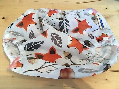 BRAND NEW Motherease Airflow Cloth Reusable Nappy Wrap Foxy - Large