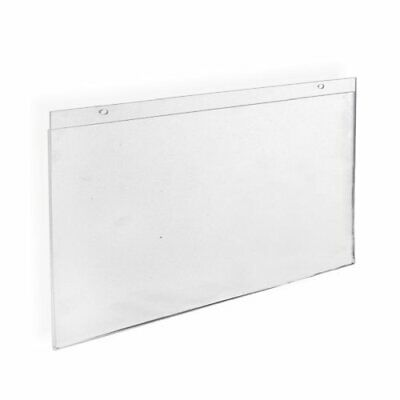 Azar 162709 Horizontal Wall Mount Sign Holder, 10 Count (17 in W x  11 in H)