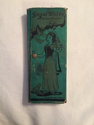 Old Antique 1937 WALT DISNEY SNOW WHITE PENCIL BOX DWARF Dixon 3909 Made In USA