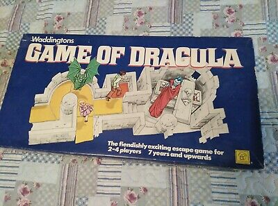 Game of Dracula 1970 Waddingtons COMPLETE boardgame