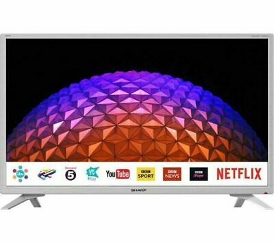 "Sharp 32"" Inch White Smart HD Ready LED TV Freeview Play - Netflix - Wi-Fi - USB"