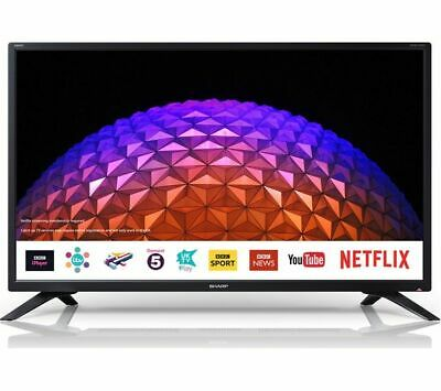 "Sharp 32"" Inch Smart HD Ready LED TV Freeview Play - Netflix - Wi-Fi - USB"