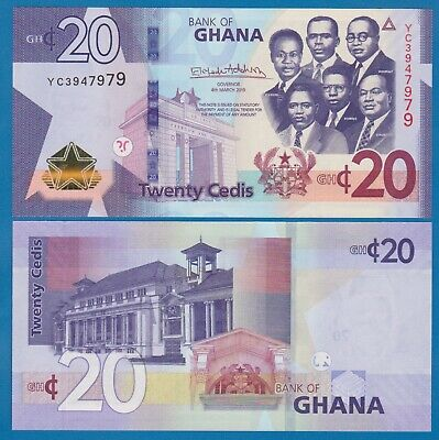 Ghana 20 Cedis P New 2019 UNC  Low Shipping! Combine FREE!