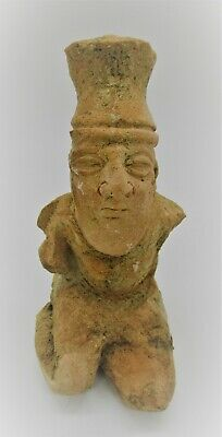 Circa 1180 - 700 Bc Ancient Syro-Hittite Terracotta Kneeling Worshipper Figurine