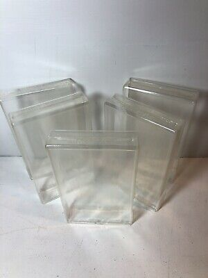 Lot of 5 Used VHS Box Protectors Clear Plastic Sleeves Protective Cases Covers