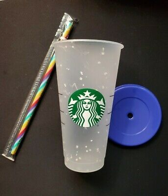 One Starbucks Rainbow Confetti Color Changing Tumbler Cup Straw Pride Summer2020
