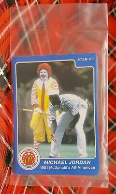 1984 84 1985 85  Star Basketball Michael Jordan ROOKIE RC BAG HSN MacDonalds