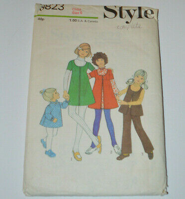 sewing pattern dress trouser suit top trousers childs