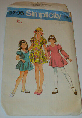sewing pattern dress mini  childs with full skirt dance