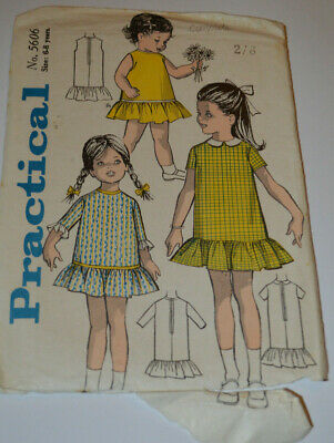 sewing pattern childs dress with frill