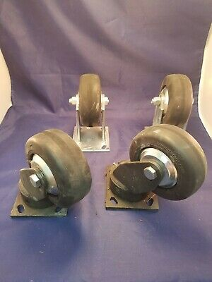 "Set of Darcor 4"" Industrial Casters"