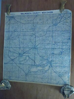 WALWORTH COUNTY, WISCONSIN  29 x 27 Deer Map Studio Plat Map w/ Owners & Acreage