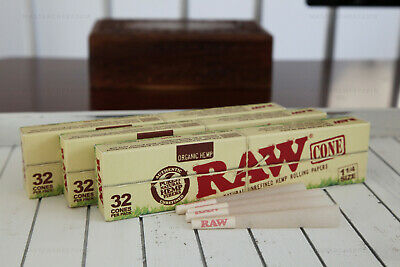 AUTHENTIC RAW ORGANIC Hemp 1-1/4 Pre-Rolled Cones (96 CONES) Fast Free Shipping