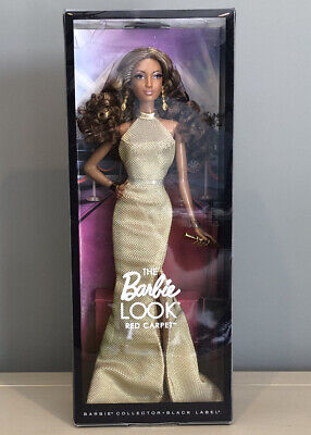 The Look Red Carpet Barbie Black Label Collector Gold Dress BCP87
