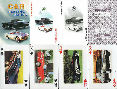 Car Playing Cards - Kartenspiel / Spielkarten