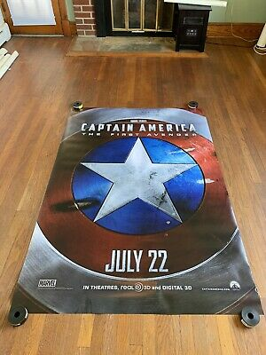 Captain America The First Avenger Movie Theatre Banner/Bus Shelter