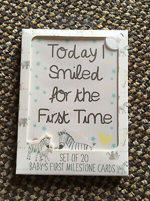 20 X Baby Milestone Cards ~ 1st Year Memorable Moments Boy Girl or Unisex