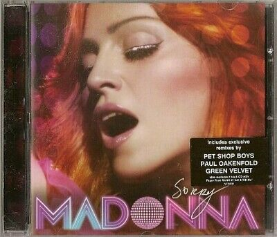 MADONNA - SORRY - 5 TRACK  MAXI CD SINGLE (Remixes By PET SHOP BOYS , OAKENFOLD)