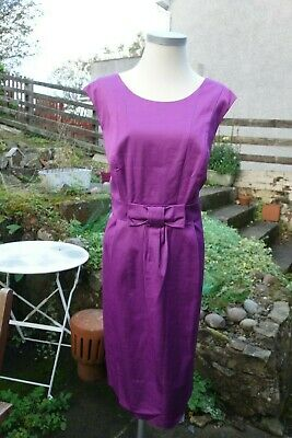 Marks Spencer M&S Autograph Collection Purple Cocktail Dress UK 18 - Mad Men