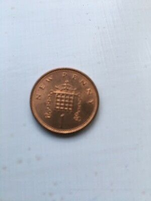 1971 One New Penny Piece Uncirculated Condition First Issue Of Decimal 1P Coin