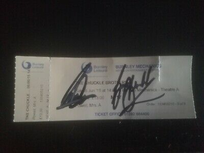 the Chuckle Brothers signature.  Genuine