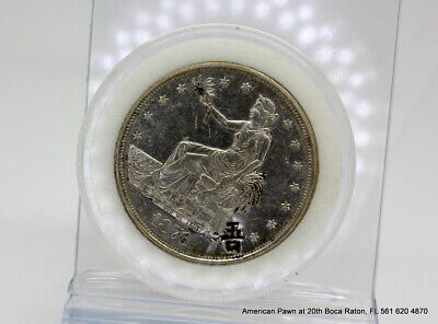 USA Trade Dollar 1876 S Material Silver 0.900, Weight 27.22g, Diameter 38.1mm.