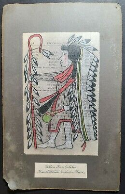 ORIGIONAL INDIAN SCHOOL LEDGER DRAWING. Late 1800s.