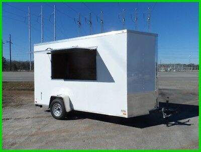 6x12 2ft v 14ft inside enclosed cargo concession work trailer 3 x 6 window NEW