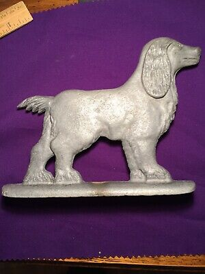 Vintage Cast Aluminum Dog Cocker Spaniel Chain Link Fence Gate Topper Decoration