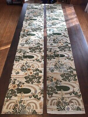 Antique Embroidered Silk Fabric Runner? Japanese?  Obi?