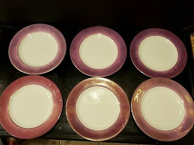 6 Pottery Barn Salad Plates