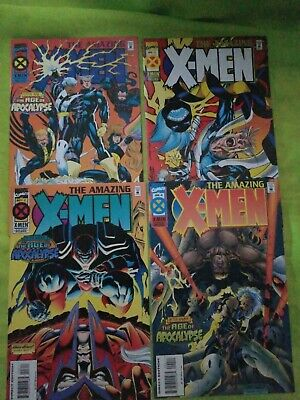 Amazing X-Men 1 2 3 4 (1995 Marvel) After Xavier: Age of Apocalypse - Wolverine