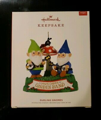 2019 Hallmark Keepsake Dueling Gnomes with Magic Sound & Motion Brand New in Box