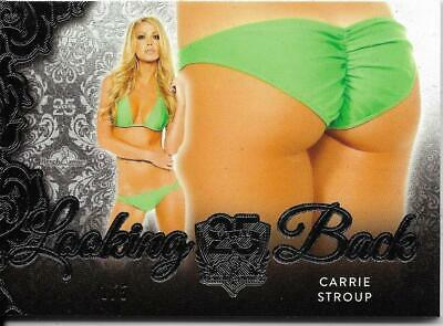 2019 Benchwarmer 25 Years Carrie Stroup Looking Back Butt Card /5