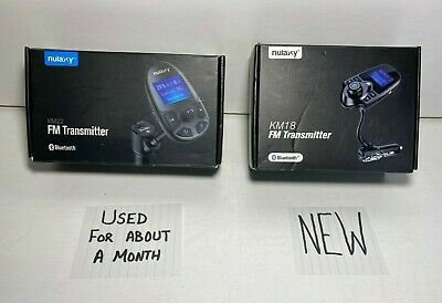 2x - Nulaxy Bluetooth Car FM Audio Transmitter (KM18 - NEW / KM22 - PreOwned)