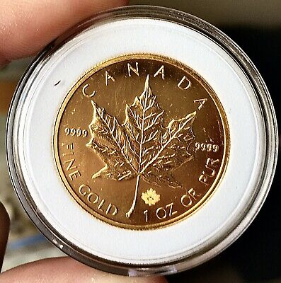 1 oz Canadian Gold Maple Leaf $50 Coin (year 2013)