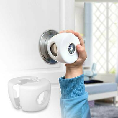 Children Baby Safety Lock Door Knob Cover Child Proof Safe Kids Toddler Guard VV