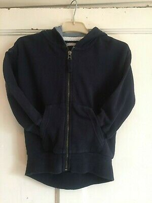 Girls Navy Long Sleeved Zipped Hoodie from Next Age 5 years