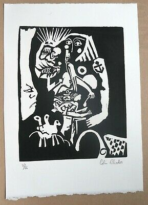 Colin Rhodes - OUTSIDER ART - SIGNED and numbered etching