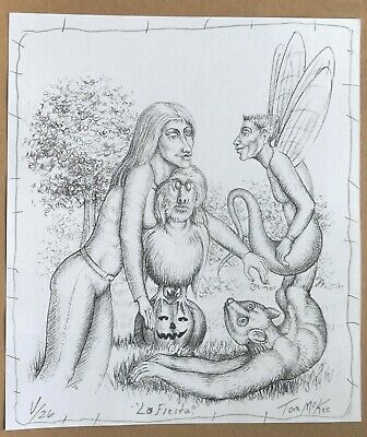 Tom McKee - OUTSIDER ART - SIGNED and numbered original print