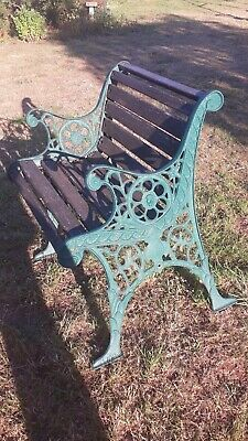 Vintage cast iron garden chair/ends, in need of renovating