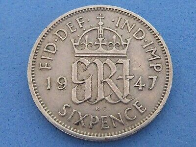 UK LUCKY SIXPENCE, BIRTHDAY 1947-1967 JUST 99p EACH WITH FREE UK POST & PACKING