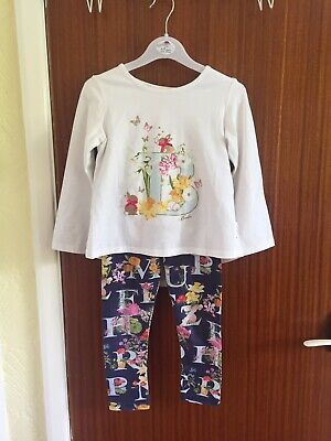 Stunning Genuine Ted Baker Girls Summery Two Piece Outfit Aged 3-4 Years
