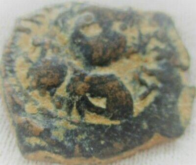 Unresearched Ancient Byzantine Bronze Follis Coin