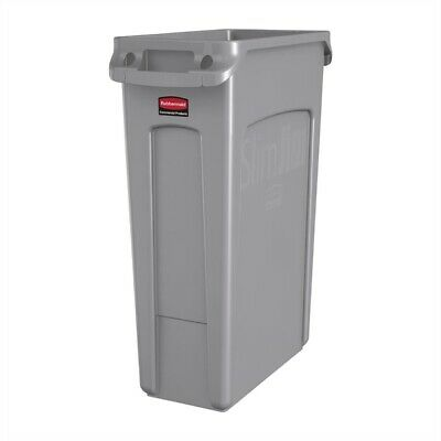 *EXCELLENT* Commercial RUBBERMAID Slim Jim Container / Bins Grey -  87 Litre