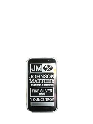 LINGOT ARGENT 1 Once 999 Johnson Matthey -