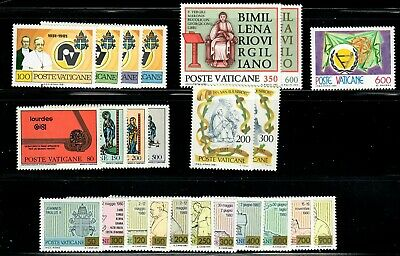 Vatican 1981 Year Set - MNH