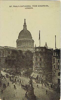 CPA n&b ST paul´s cathedral from Chepside London