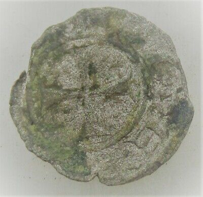 Ancient Byzantine Hammered Silver Crusaders Penny
