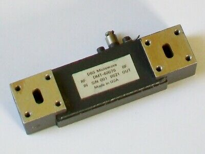 NARDA Microwave Amplifier, 26.5 - 40 GHZ >30dB gain waveguide WR28 DMT-40075